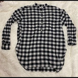 Madewell popover buffalo check pullover flannel